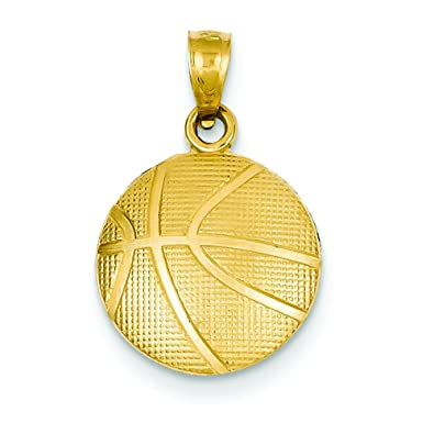 Amazon 14k gold basketball charm sports jewelry pendant clasp 14k gold basketball charm sports jewelry pendant mozeypictures Images