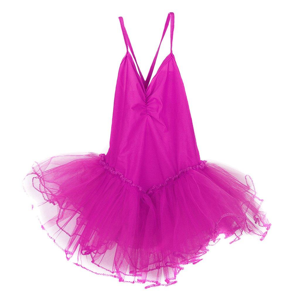 Girls Fairy Dress Ballet Tutu Leotard 4-5T - Shocking Pink