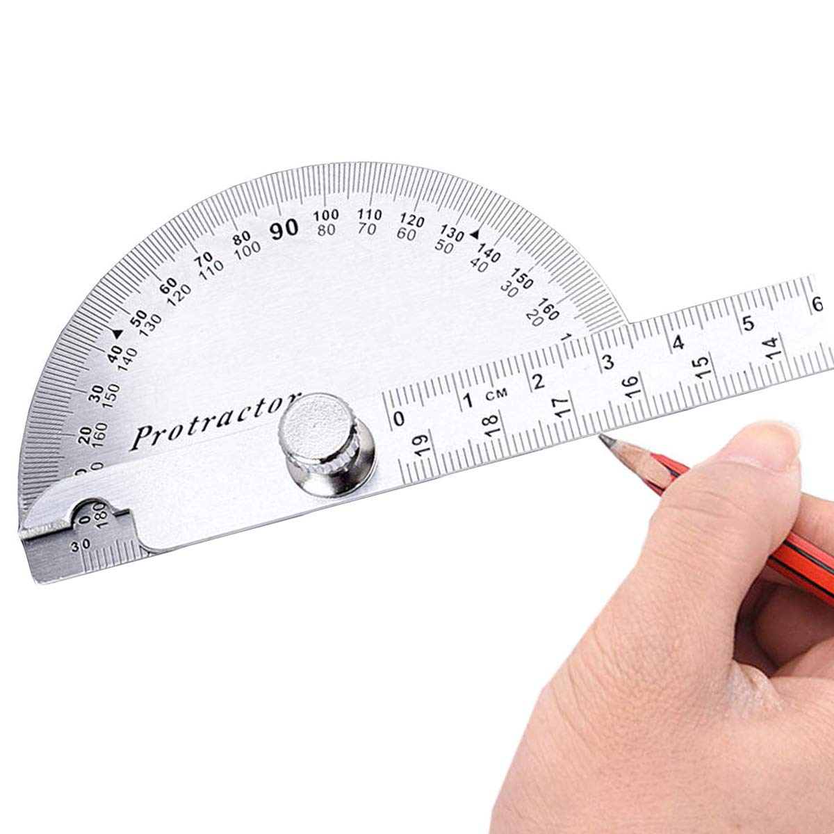 150mm Angle Finder Protractor 0-180 Degrees Swing Arm Protractor Stainless Steel Measuring Ruler Durable Metal Adjustable General Ruler Layout Tool