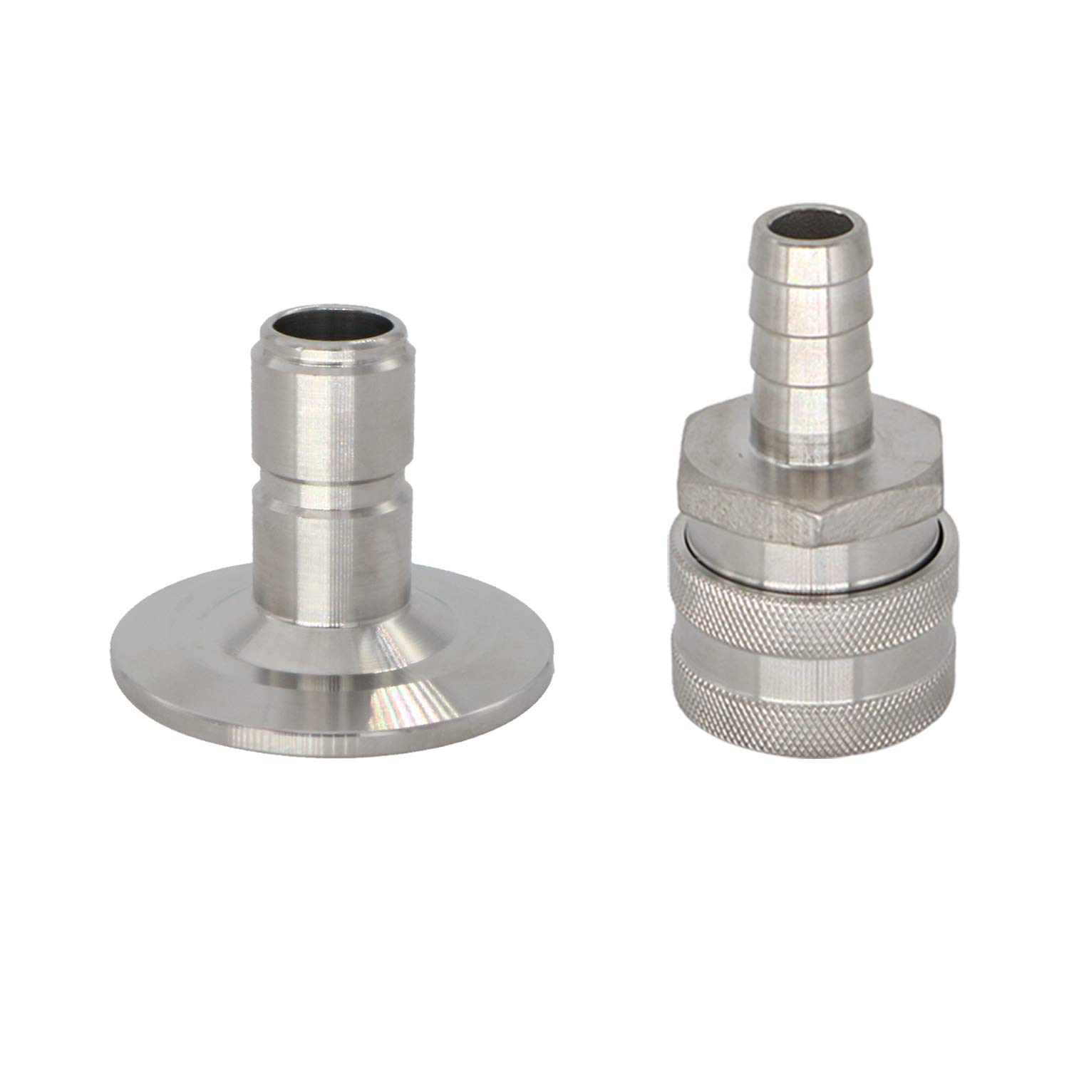 SS304 Sanitary Brewer 1.5''Tri Clamp Quick Disconnect Set,1.5''Tri Clamp Quick Disconnect Post (1/2'' Barb)