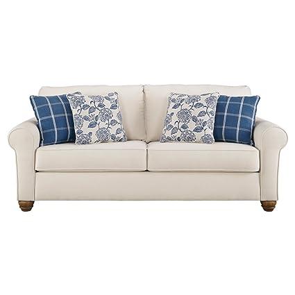 Benchcraft   Adderbury Casual Sofa Sleeper   Queen Size Mattress Included    Bone White