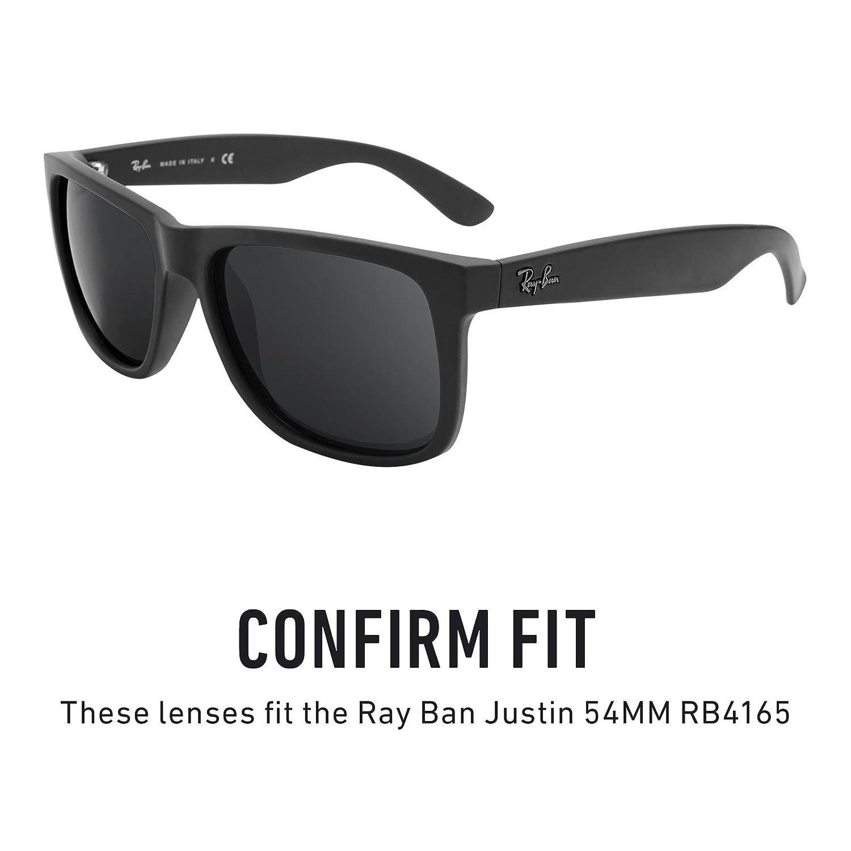 Revant Lentes polarizados para Ray Ban Justin 54mm RB4165 (Azul Hielo) MirrorShield®: Amazon.es: Ropa y accesorios