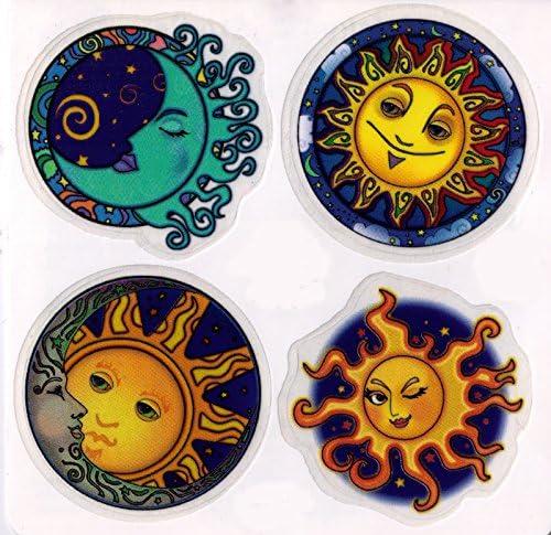 Window Sticker//Decal Four Cosmos 4-2.25 Circular Stickers