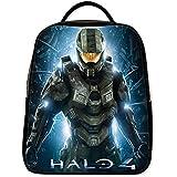 Emana Custom Halo middle school Student Shoulder backpack School Bag travel backpack