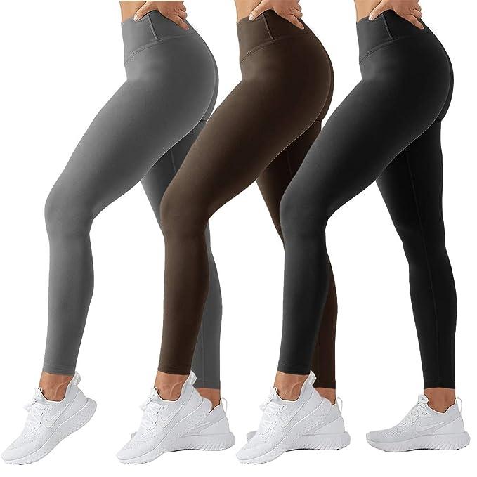TNNZEET High Waisted Leggings for Women Plus Size Capri&Ankle Yoga Pants Tummy Control Soft Workout Seamless Legging
