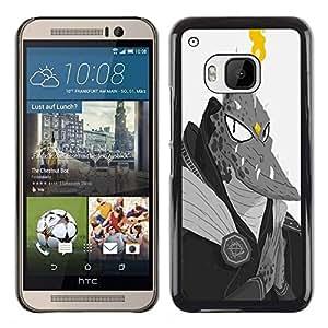 """For HTC One ( M9 ) Case , Monstruo extranjero Lagarto Hombre Dragón Ufo Fuego"""" - Diseño Patrón Teléfono Caso Cubierta Case Bumper Duro Protección Case Cover Funda"""