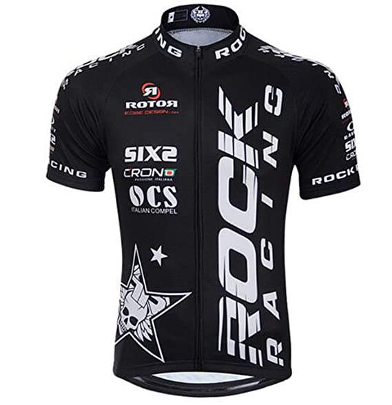 Amazon.com: Maillot de ciclismo para hombre MTB Racing Rock ...