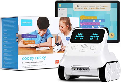Amazon.com: Makeblock Codey Rocky Coding Robot for Kids Ages 6+, Endless  Fun with 10+ Programmable Electronic Modules and Scratch Coding, App Remote  Control, Robot Kit, STEM Education Kits: Toys & Games