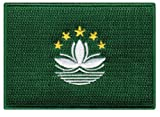 Macau Flag Embroidered Patch Macanese China Iron-On National Emblem