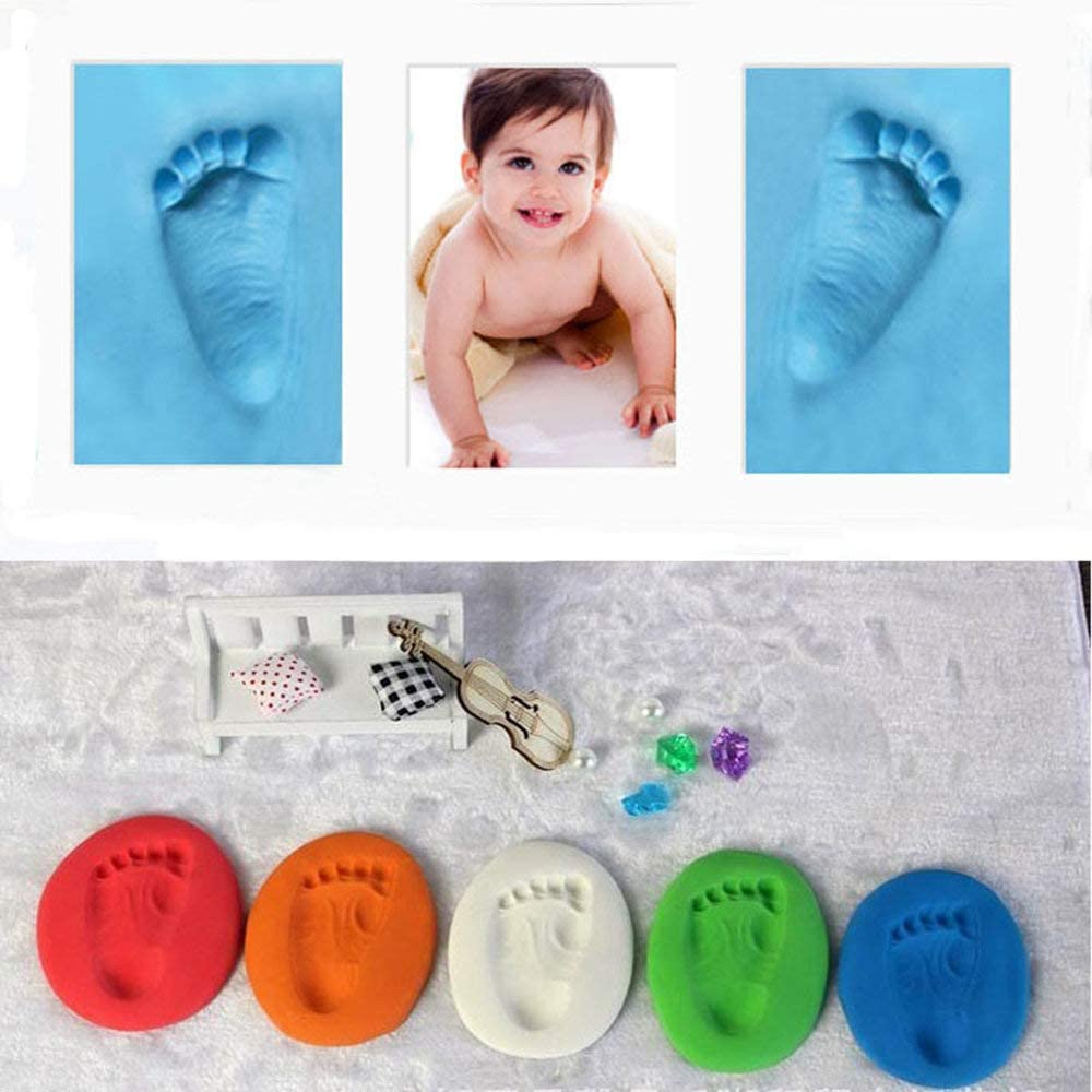 Mandalaa Unique Infant Baby Kids Handprint Footprint Soft Clay Special Educational Baby Diy Air Drying Clays Good Toys Craft Gift Baby Clay