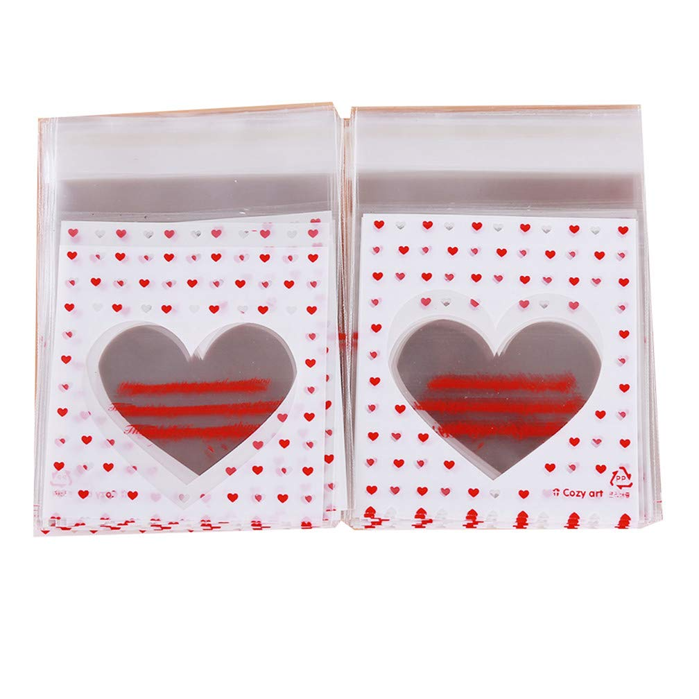 LJSLYJ Special Love Cookie Candy Self Adhesive Plastic Packing Bags Biscuit Cupcake Baked Food Package Pouches,77+3cm