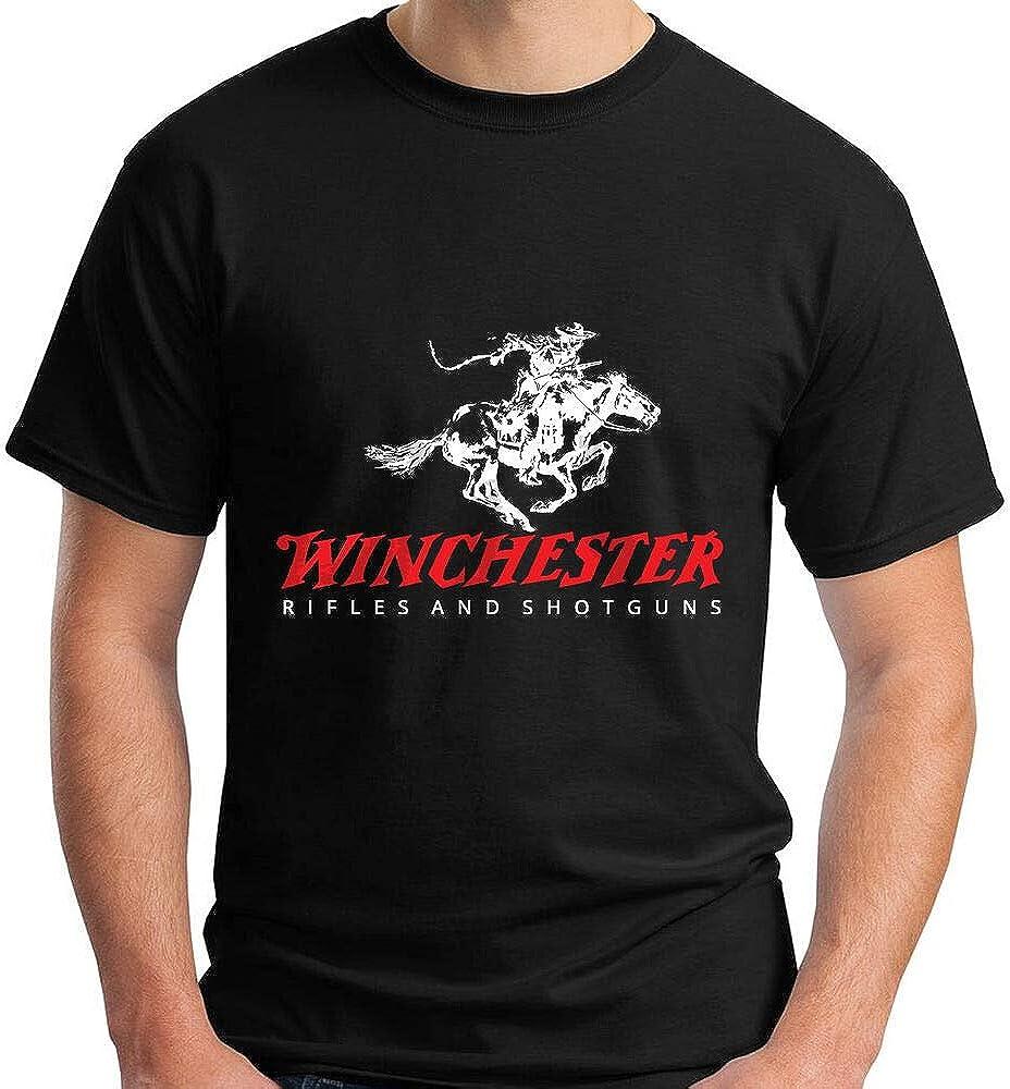 New Winchester Rifle and Shotguns Firearm Logo Men's Black T-Shirt Size S-5XL