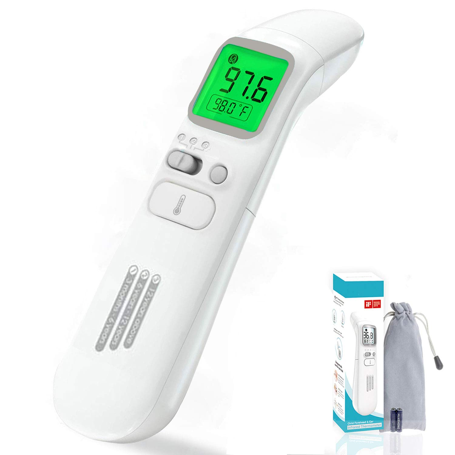 2019 Household  Adult Baby Kids Body LCD Display Fever Measuring Temperature Hot