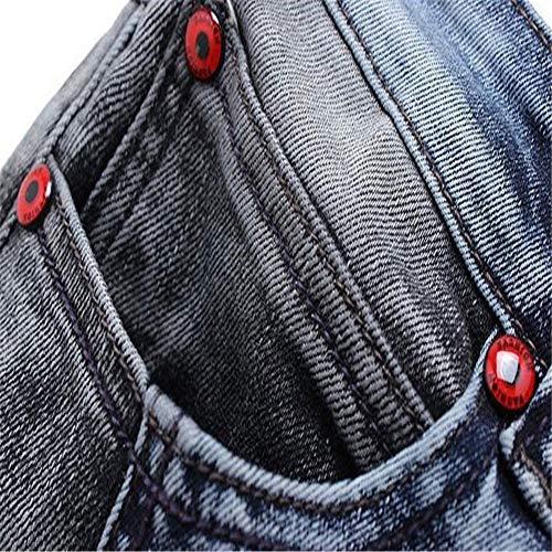 Jeans Uomo Pantaloni Eu 36 Elastica In Strappati Skinny Da Distrutti Forza Fit Denim dimensione Slim Wanlianer gnxHawpx