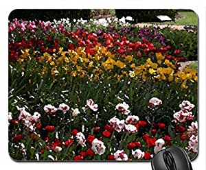 Colorful Flowers Mouse Pad, Mousepad (Flowers Mouse Pad, Watercolor style)