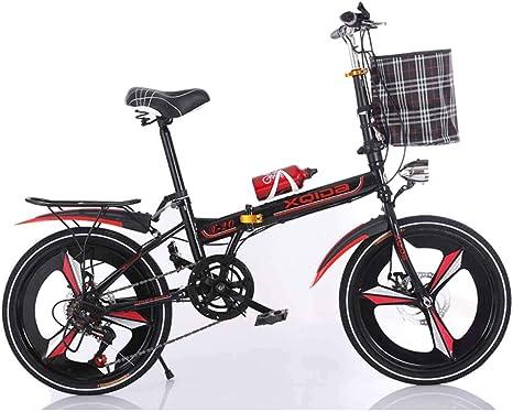 MUYU Bicicleta Plegable de Acero al Carbono de 20 Pulgadas ...