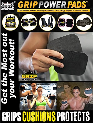 Grip Power Pads 3 Pack Firm ALTERNATIVE TO GYM GLOVES, Weight Lifting Straps (Best Rowers On The Market)