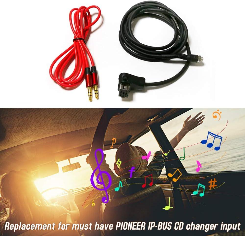 Tickas Cavo Audio Adattatore Ausiliariosostituzione Cavo Audio Adattatore Audio Aux Femmina Ipbus Da 3,5 Mm Per Autoradio Pioneer Ip-Bus