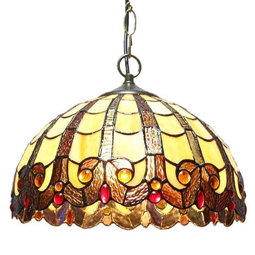 Amazon.com: Lámpara de techo con lámpara de cristal moderna ...