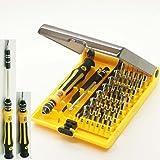 Jackly 45in 1Professional Portable opening Tool Compact Screwdriver kit set con pinzette e extension shaft per riparazione o manutenzione precisa jk6089-a