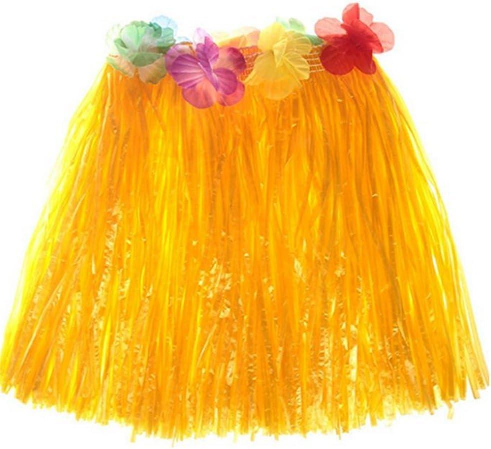 Chytaii Falda de Hierba con Flores Hawaiana Accesorios para ...