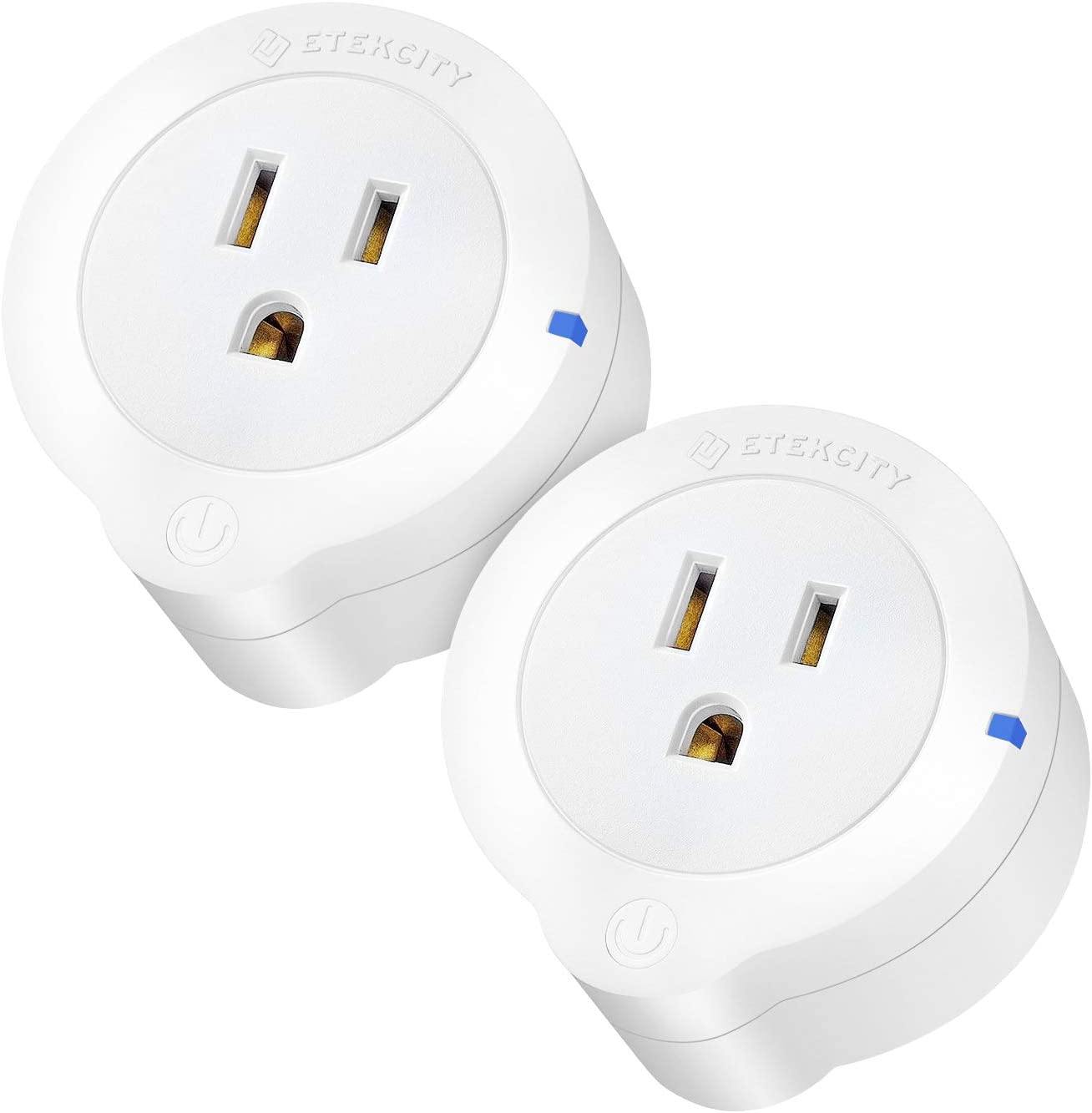 Etekcity Smart Plug, Works with Alexa, Google Home and IFTTT, Easy Setup, Energy Monitoring WiFi Outlet with Overheat Protection, ETL Listed, FCC Certified (Upgraded 2 Pack)