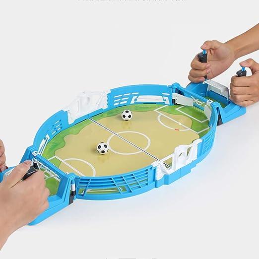 WHTBOX Futbol de Mesa/FutbolíN para,Adecuado Personas Mayores de 3 AñOs,Juego De Mesa,FúTbolista,Deporte,Soccer,Football, BalóN Robusto,Resistente,FúTbol,Blue-S: Amazon.es: Jardín