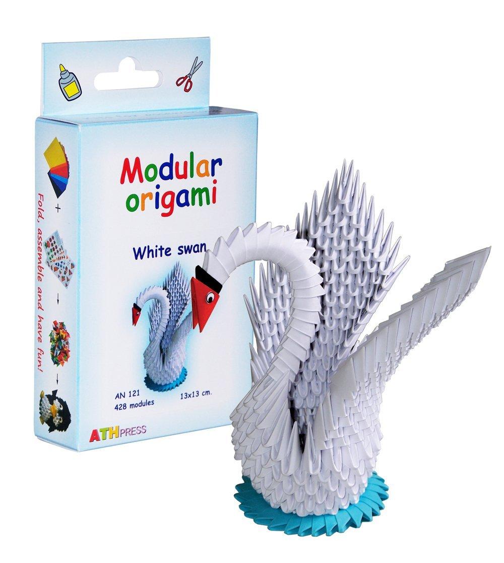 Origami modulari - Set carta 428 pezzi cigno piccolo, bianco ATH Press Ltd AN121