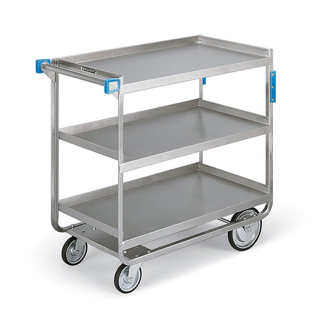 Lakeside 522 Heavy Duty Utility Cart, 3 Shelves, Stainless Steel, 700 lb Capacity, NSF listed, 19-3/8'' x 32-5/8'' x 35-1/2''