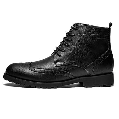 962e16632ae611 DHFUD Sommer British High Schuhe Herren Martin Stiefel Vintage Lacew Geschnitzt  Schuhe Gezeiten
