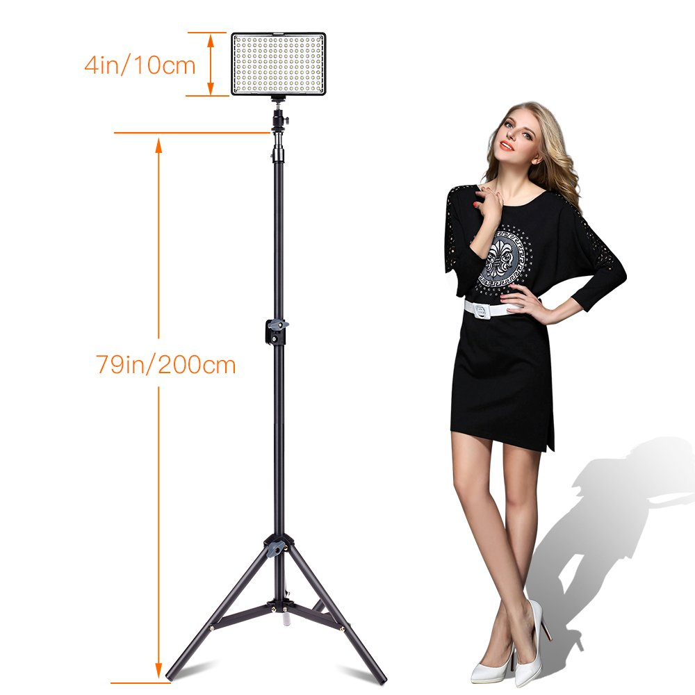 SAMTIAN Kit di Illuminazione Pannello,Yeeteem 160 Pezzi LED 3200 5500K Pannello Luce LED Kit Luce Video LED Studio Lighting Fotocamera//Videocamera DSLR con Luce da 79Supporto e Caricatore