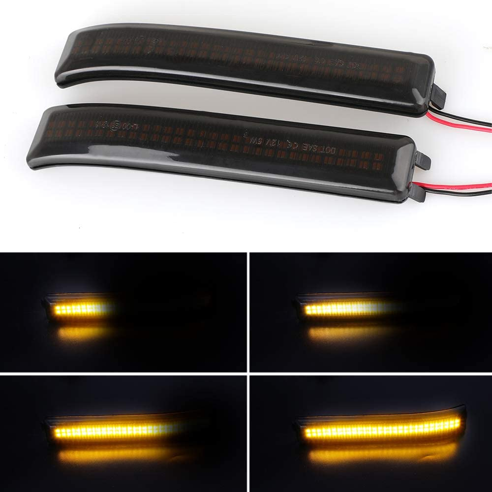 2 Pieces LED Side Wing Dynamic Turn Signal Light Flowing Rearview Mirror Indicator Blinker Light For Ford F150 Raptor 2010-2014