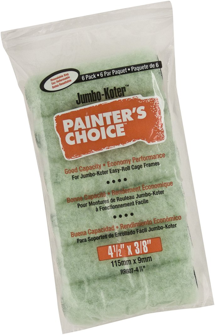Wooster Brush RR607-4-1//2 Painters Choice Roller 3//8-Inch Nap 6-Pack 4-1//2-Inch RR607-4 1//2