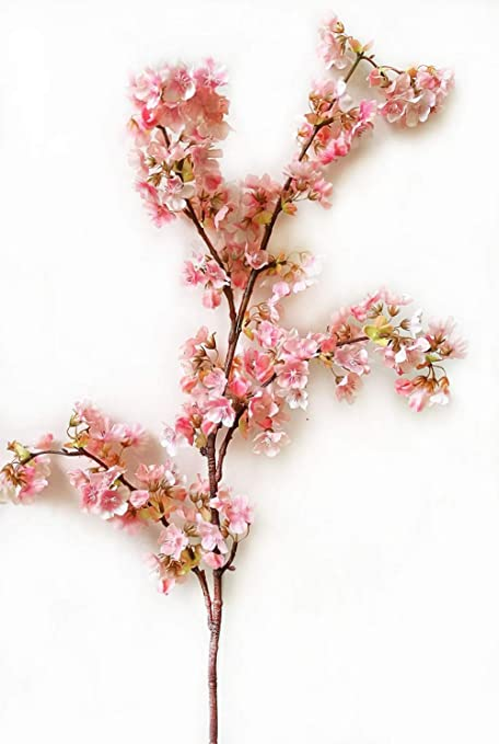 Buy um2 39 inch artificial branches of peach cherry blossom silk um2 39 inch artificial branches of peach cherry blossom silk flowers home decoration pink mightylinksfo