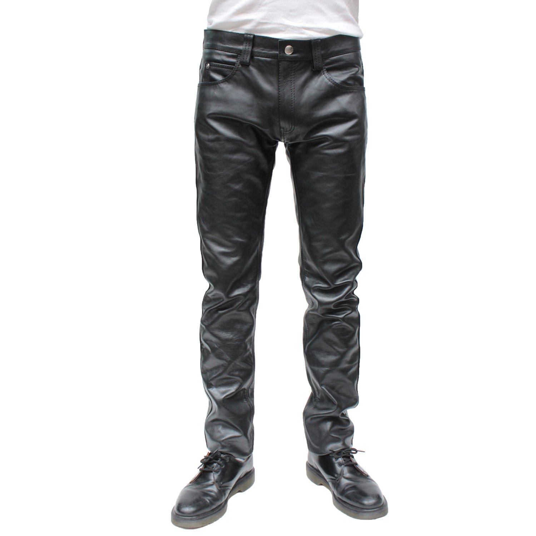 メンズ レザーパンツ スキニーパンツ レザーパンツ mlpt005 B01N0B19AT L ブラック ブラック L