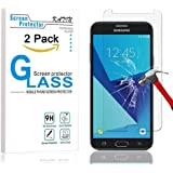 Galaxy J7 (2017) Screen Protector - KATIN [2-Pack] Samsung Galaxy J7 Prime / J7 Perx 2017 [Will Not fit Whole screen] Tempered Glass Screen Protector 9H Hardness with Lifetime Replacement Warranty