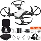DJI Tello Quadcopter Drone with HD Camera and VR Powered Technology Fun Flight Bundle with Carry Case, Spare Battery and VR Goggles Headset