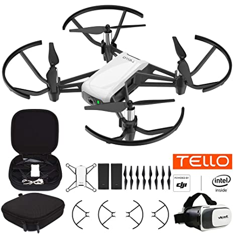 DJI Tello Quadcopter Beginner Drone VR HD Video Bundle with Tello Spare  Battery, Custom Tello Protective Carrying Case and VR Viewer for 3 5 Inches