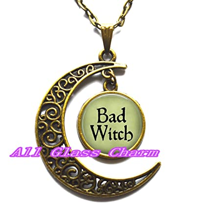 Amazon bad witch pendant necklace witch necklace evil witch bad witch pendant necklace witch necklace evil witch jewelry witch costume jewelry aloadofball Image collections