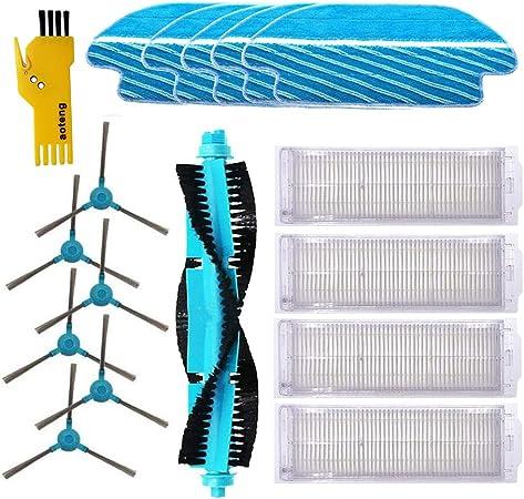 Accesorios de Recambio para Cecotec Conga 3490 Robot Aspirador Repuestos Paquete de 1 Cepillo Principal&4 filtros Hepa& 6 cepillos Laterales&5 Trapos de fregona: Amazon.es: Hogar