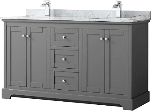 Wyndham Collection Avery 60 Inch Double Bathroom Vanity