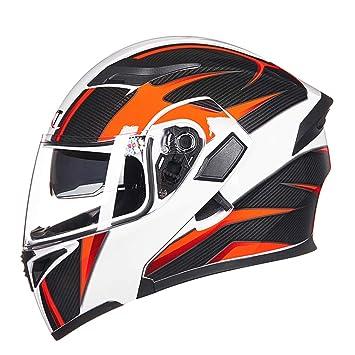 Qianliuk Full Face Helmet Safe Flip Up Motorcycle Motorcross Motorbike Helmet Racing Motocross With Inner Sun Visor
