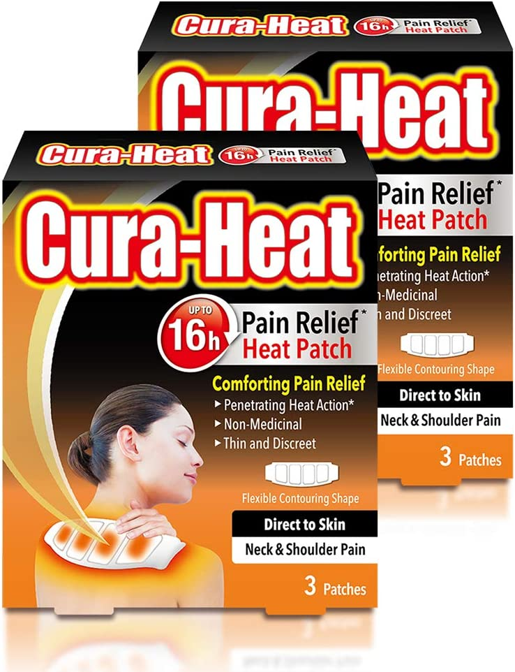 Cura Heat Neck & Shoulder Pain Direct to Skin - 2 x by Cura-heat