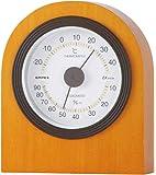 エンペックス気象計 温度湿度計 ベルモント温湿度計 置き用 日本製 ブラウン TM-682