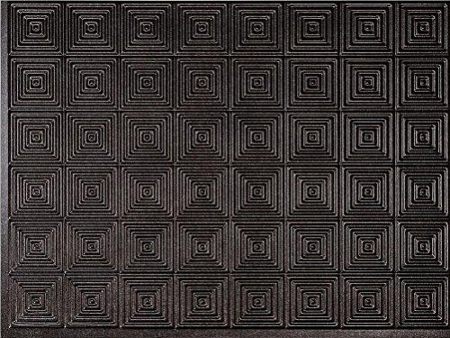 "Mirroflex MiniQuadro Backsplash Tiles Decorative Wall Paneling, Smoked Pewter, 18""x24"""