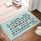 Easter Doormat, Christian Bible Verse Indoor/Outdoor Non-slip Rubber Welcome Mats Floor Rug for Bathroom/Front Entryway