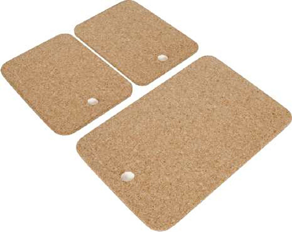 Cork Nature 490400 Korko Rectangular Hot Pot Trivet, Set of 3 Amorim Cork Composites