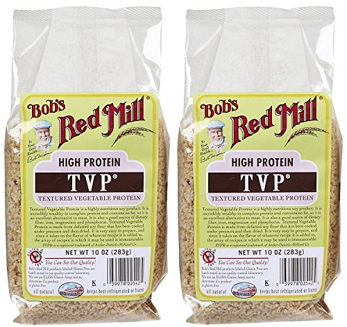 - Bob's Red Mill Textured Vegetable Protein, 10 oz, 2 pk