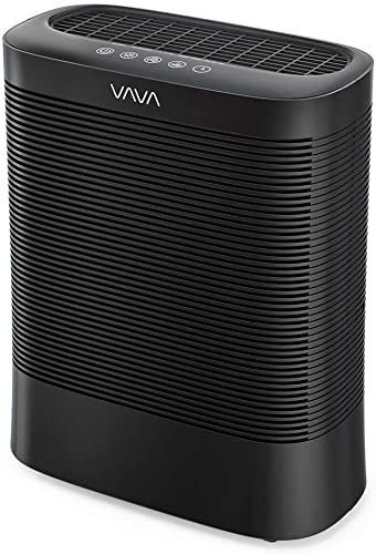 VAVA Air Purifier, Purifier with 3-in-1 True HEPA, Home Air Filter System with UV-C Light, Silent Operation Auto – Black
