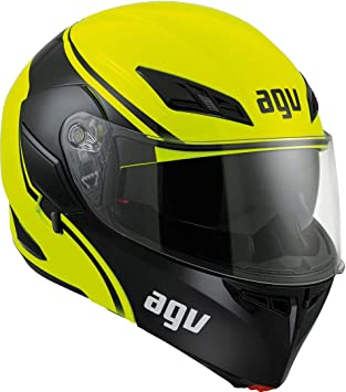 AGV Casco de moto Compact St E2205 Multi PLK, Course Yellow/Black, XS